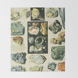 Vintage Minerals Chart Throw Blanket