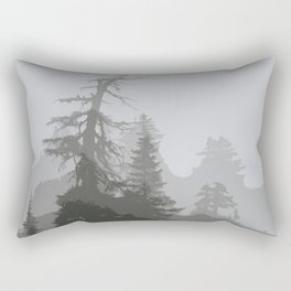 MOUNTAIN HEMLOCK SILHOUETTES IN THE CLOUDS Rectangular Pillow