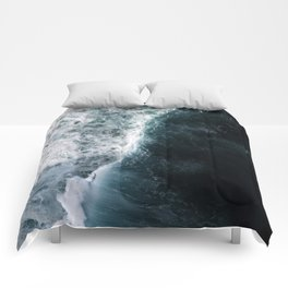 Oceanscape - White and Blue Comforters