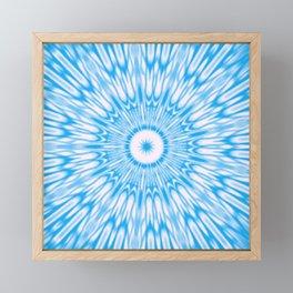 Blue kaleidoscope Framed Mini Art Print