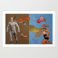 fierce Art Prints featuring Fierce by Moistgnome