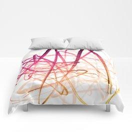 Crimson Sunset Goldenrod Tangled Abstract Comforters