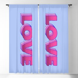 LOVE is a magic word Blackout Curtain