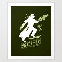 SCI-FI Rocks Art Print