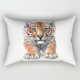 Playful Tiger Cub 907 Rectangular Pillow