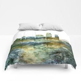 Corpus Christi Texas Skyline Comforters