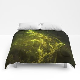 Magical Fractal Fairy Ferns in an Emerald Forest Comforters