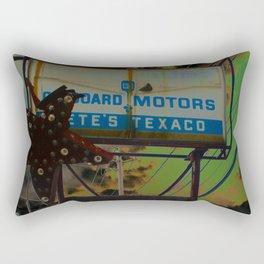 pete's texaco Rectangular Pillow