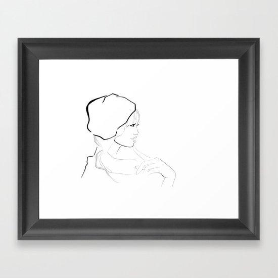 In France Framed Art Print