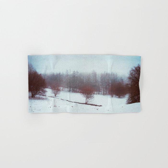 misty winterscape Hand & Bath Towel