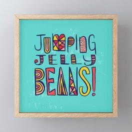 Jumping Jelly Beans! Framed Mini Art Print