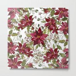 Poinsettia Flowers Metal Print