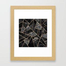 Black Stone 2 Framed Art Print