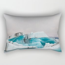 Iceberg in the glacial lagoon in Iceland - landscape photography Rectangular Pillow