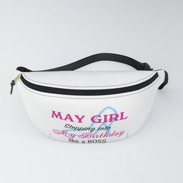 May Girl Birthday Fanny Pack