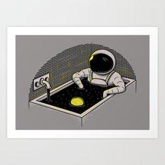 Space bath Art Print