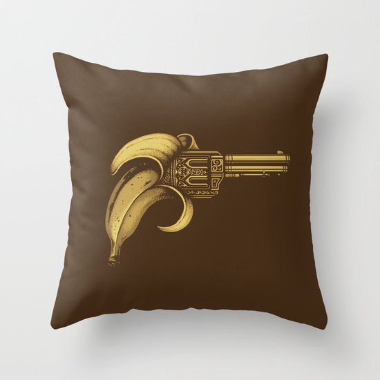 Banana Gun Throw Pillow