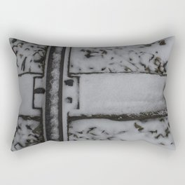 Snowy Traintracks Rectangular Pillow