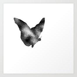 Butterfly Ripple Art Print