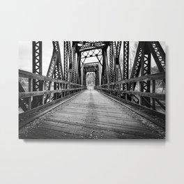 Old Train Bridge Bath, NH Metal Print