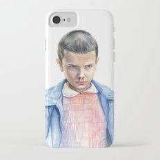 Eleven Stranger Things Watercolor Portrait iPhone 7 Slim Case