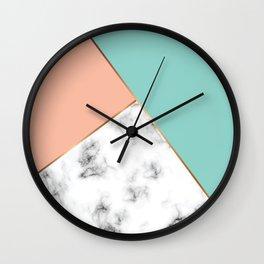 Marble Geometry 056 Wall Clock