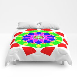 Mandala in vibrant colors Comforters
