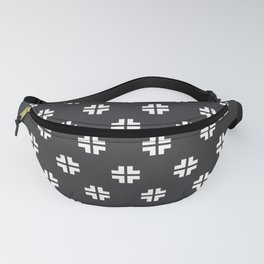 Scandinavian / Dark Grey + White Fanny Pack