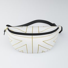Angled 2 White Gold Fanny Pack