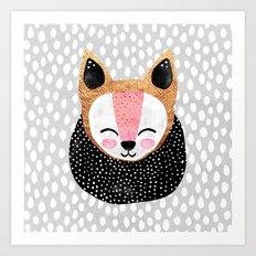Little Arctic Fox Art Print