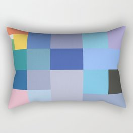 Blue Checker Pattern Rectangular Pillow