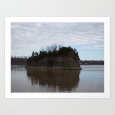 mysterious island II Art Print