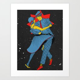 Cosmic Dancers Art Print