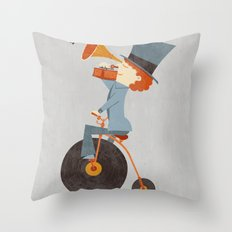 Rolling Old School Throw Pillow