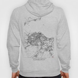 Edinburgh Map White Hoody