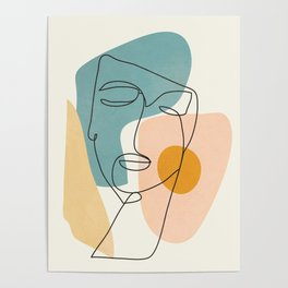 Abstract Face 25 Poster