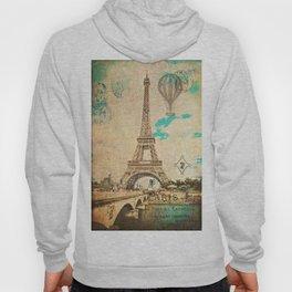 Vintage Eiffel Tower Paris Hoody