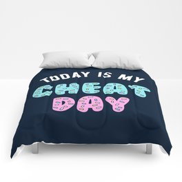 Today Is My Cheat Day Comforters
