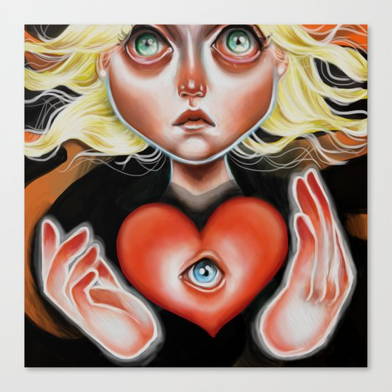 """What is This Heart?"" by Kristin Frenzel Canvas Print"