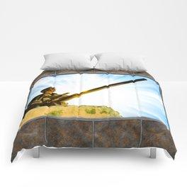 Vintage World War II Era Tank Commander Comforters