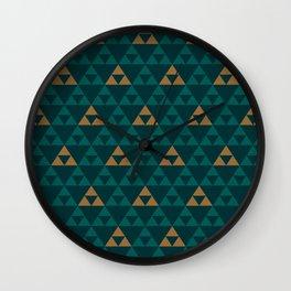 The Golden Power (Green) Wall Clock
