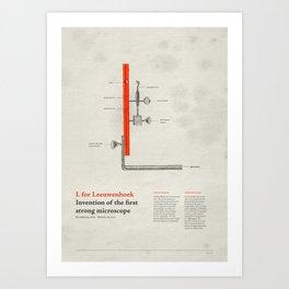 L for Leeuwenhoek Art Print