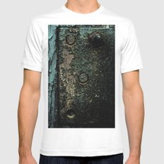 Crusted MEDIUM Mens Fitted Tee White