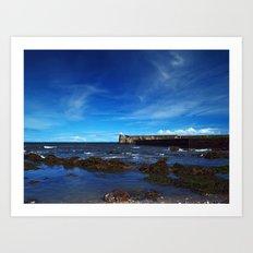 Burnmouth Harbour Art Print