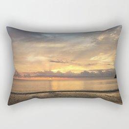 Daintree rainforest Oceanside sunrise Rectangular Pillow