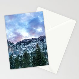 Snowcap Mountain | Sunset at Mount Charleston Mary Jane Falls Road National Forest Road Trip Sky Stationery Cards