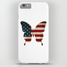 butterfly collection - usa -flag Slim Case iPhone 6 Plus