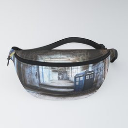 Tardis Art Alone In The Hallway Fanny Pack