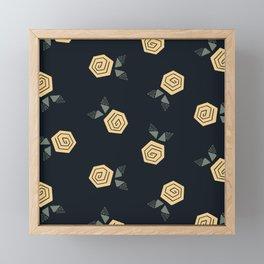 Geo Rose Framed Mini Art Print