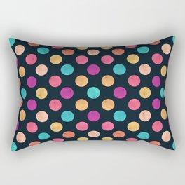 Watercolor Dots Pattern VI Rectangular Pillow